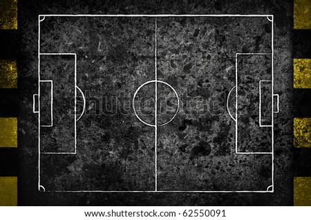street soccer field in dark grunge style - stock photo