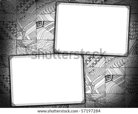 street style grunge frames - stock photo