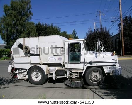 Street Sweeper - stock photo