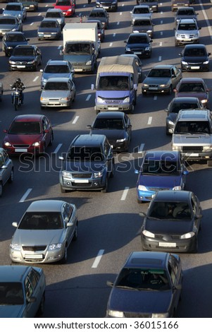 street traffic - stock photo