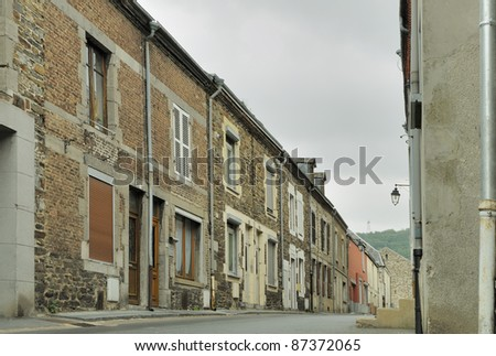 street under cloudy sky, revin, ardennes