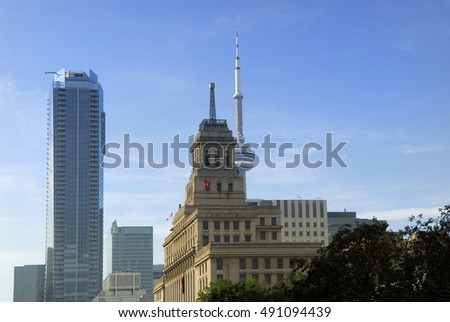 Street View City Buildings In Toronto Ontario Canada Street View City