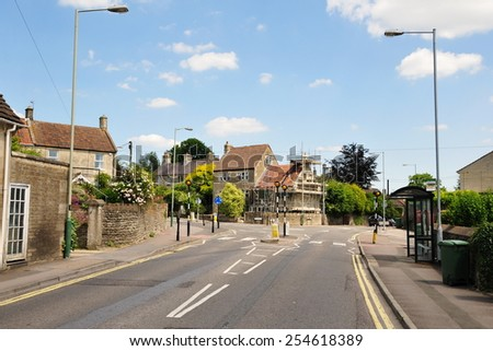 Street View in a Typical English Town - stock photo