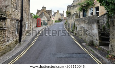 Street View in a Typical English Town - Namely Bradford on Avon in Wiltshire England - stock photo