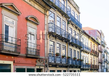 Street view of old town Porto, Portugal, Europe