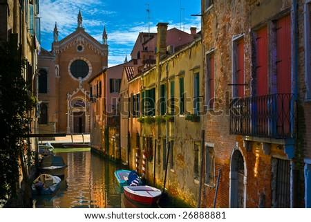Street view of Venice - stock photo