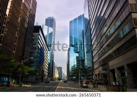 street view, Toronto, Canada - stock photo