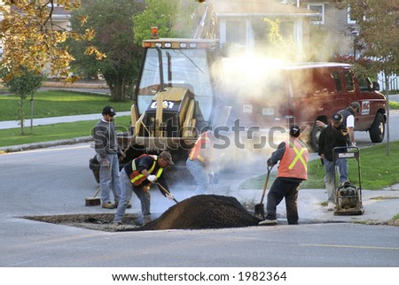 Street workers - stock photo