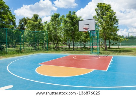 Streetball basketball game - stock photo