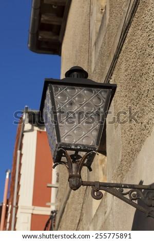Streetlamp in Plentzia, Bizkaia, Basque Country, Spain - stock photo