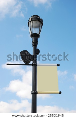 streetlight with copy space - stock photo