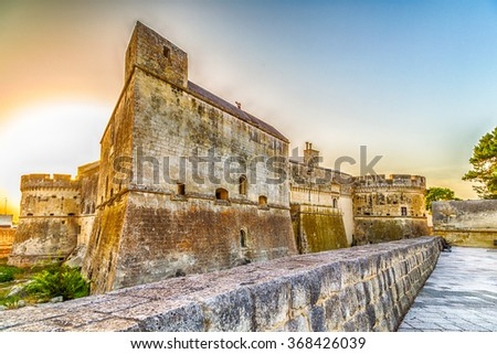 streets and walls of small fortified citadel of XVI century in Italy