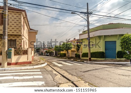 Streets in Sao Paulo , Brazil - stock photo