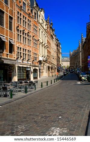 Streets of Brussels, Belgium - stock photo