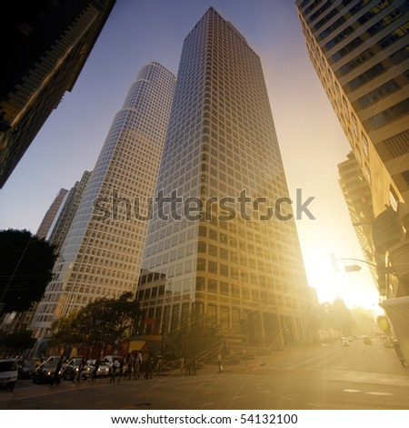 Streets of Los Angeles - stock photo