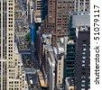 Streets of Manhattan - stock photo