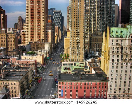 Streets of Midtown - Manhattan, New York City. - stock photo