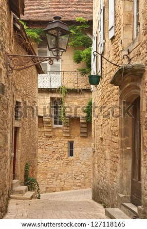 Streets of Sarlat, medieval town, Dordogne (Perigord), Aquitaine, France