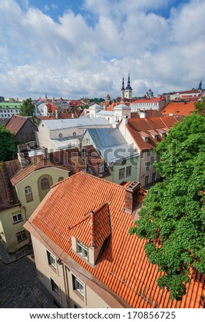 Streets of Tallinn - stock photo
