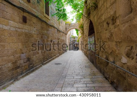 Streets of the old city of Jerusalem