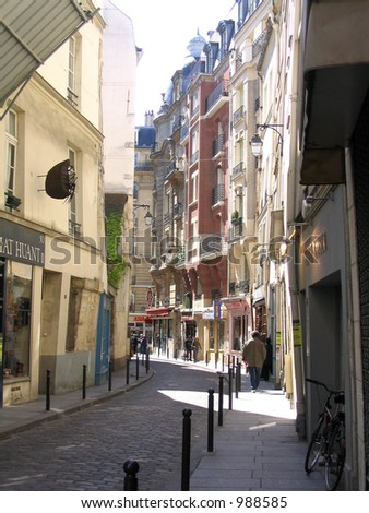 Streetscape in Europe - stock photo