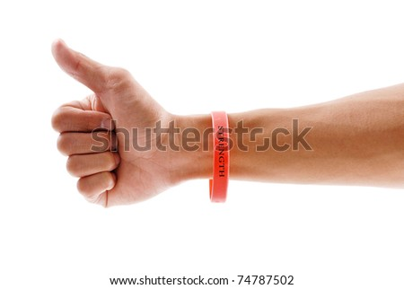Strength Bracelet - stock photo