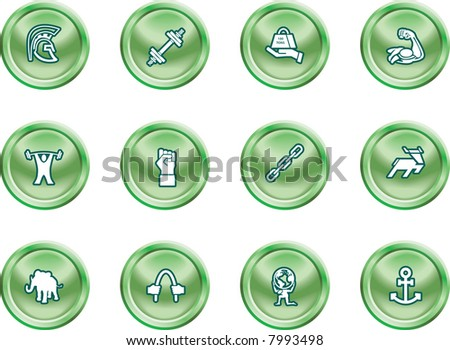 Strength Concept Icon Set A conceptual icon set relating to strength. Raster version - stock photo