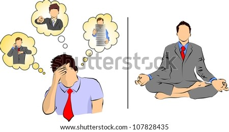 stress and meditation - stock photo