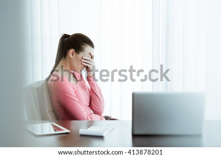 Stress at work.  - stock photo