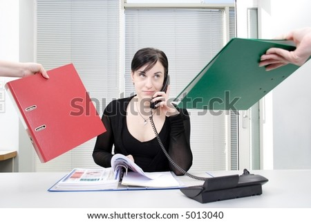 stress at work 3 - stock photo