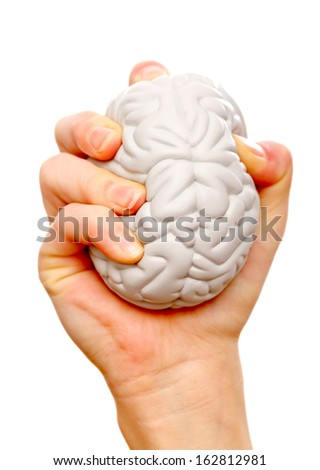 Stress ball help to relieve the stress and muscle tension - stock photo