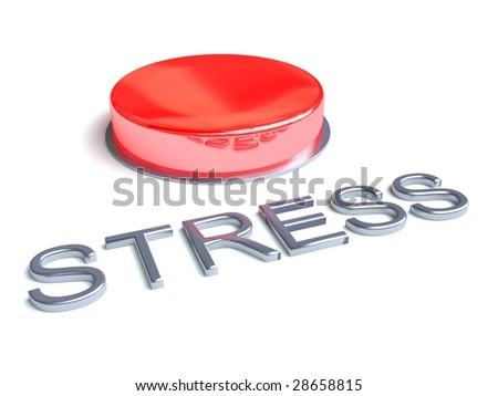 Stress Button - stock photo