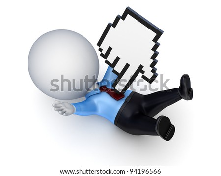 Stress concept.Isolated on white background.3d rendered. - stock photo