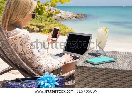 Stress free work conditions - stock photo