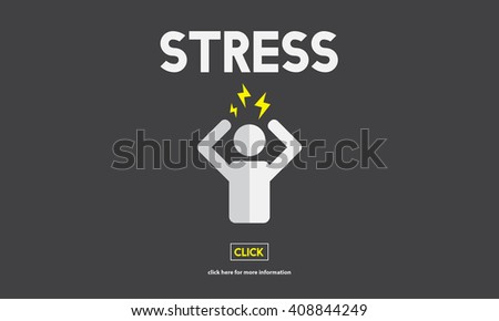 Stress Headache Migraine Panic Tension Unhappy Concept - stock photo