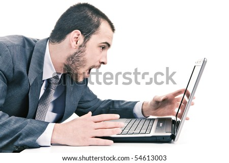 Stress in the workplace - stock photo