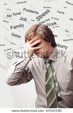 Stress Man - stock photo