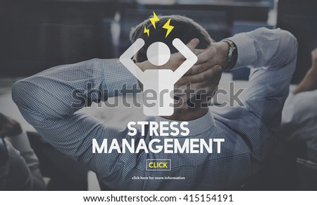 Stress Management Tension Anxiety Strain Rehabilitation Concept - stock photo