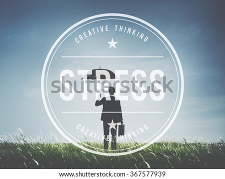 Stress Panic Anxiety Pressure Tension Worry Concept - stock photo