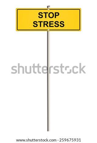 Stress. Road sign. Raster. - stock photo