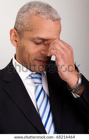 Stressed Businessman Man - stock photo