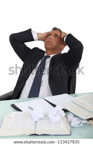 Stressed executive - stock photo