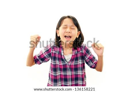 Stressed girl - stock photo