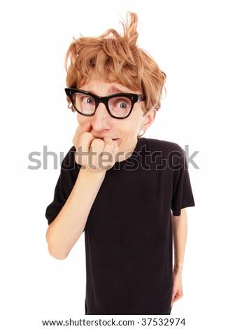 Stressed guy similar available in my portfolio - stock photo