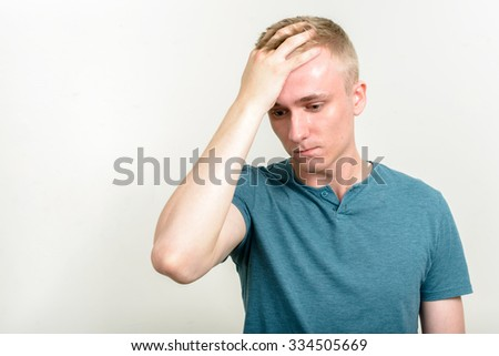 Stressed man - stock photo
