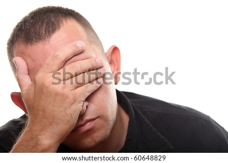 Stressed Men - stock photo
