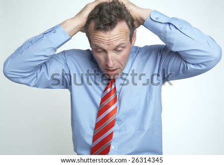 stressed out businessman - stock photo