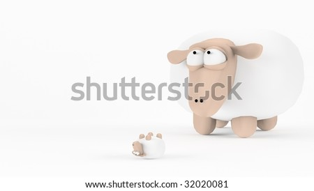 Stressed Sheep - stock photo