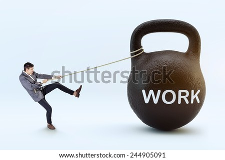 Stressed work concept - stock photo
