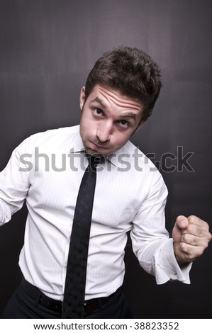 stressed young businessman II - stock photo